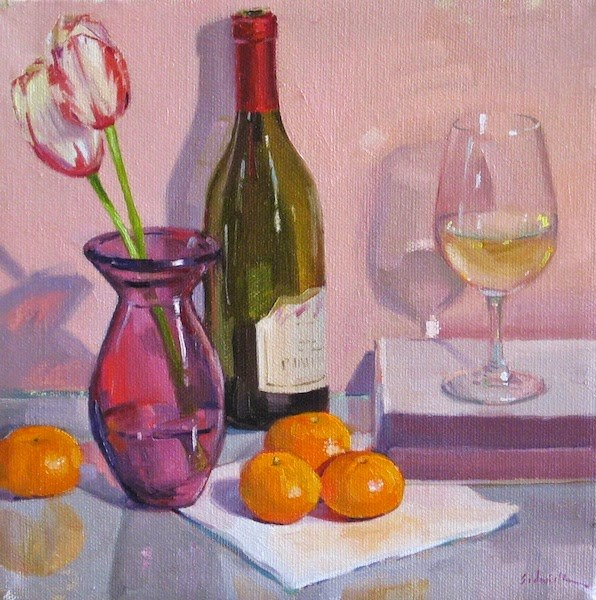 """""""Pretty in Pink: Onward with the $1 Auctions!"""" original fine art by Sarah Sedwick"""