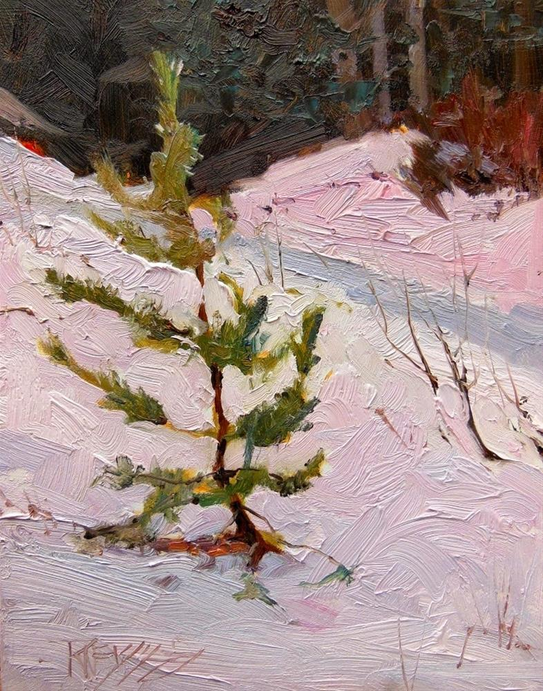 """Snoqualmie Pine  plein air landscape painting by Robin Weiss"" original fine art by Robin Weiss"