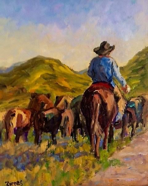 """On the Move"" original fine art by Liz Zornes"