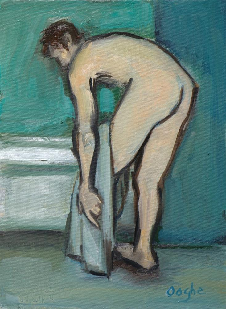 """Man After the Bath"" original fine art by Angela Ooghe"