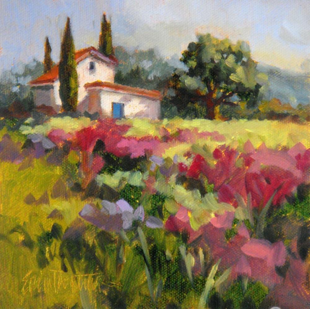 """Flowering Meadow"" original fine art by Erin Dertner"