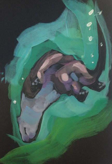 """""""SchaWHOOP!"""" original fine art by Kat Corrigan"""