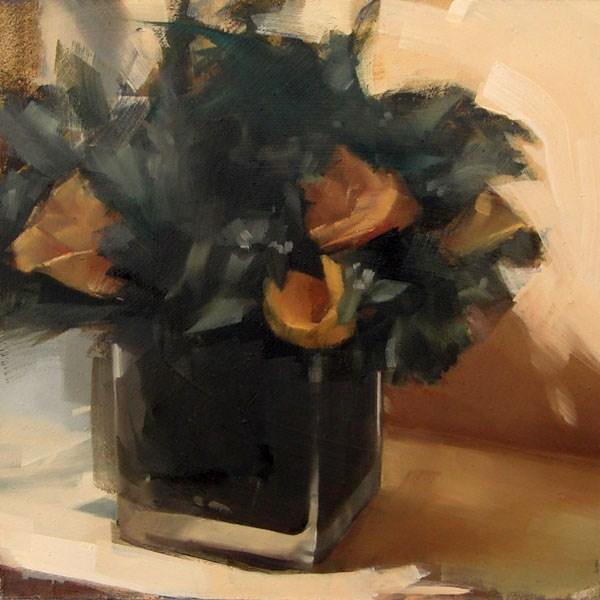 """Yellow Roses (no.86)"" original fine art by Michael William"