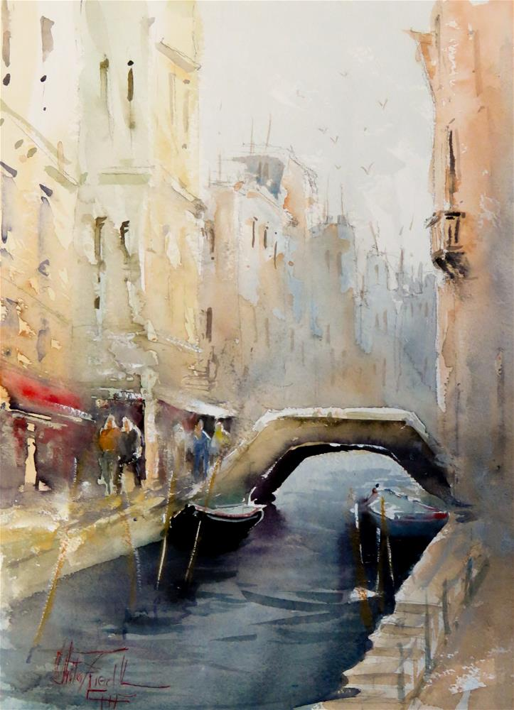 """Venice Canal"" original fine art by Christa Friedl"