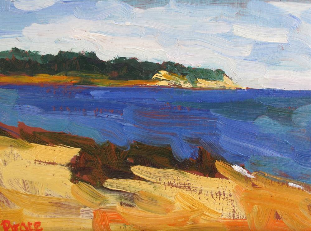 """Manomet Point In The Hot Sun"" original fine art by Rita Brace"