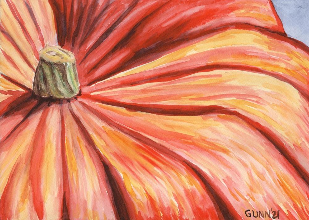 """""""Pumpkin Close-Up"""" original fine art by Katrina Gunn"""