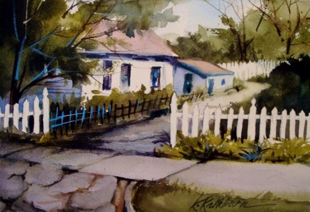 """""""Fenced In"""" original fine art by Kathy Los-Rathburn"""