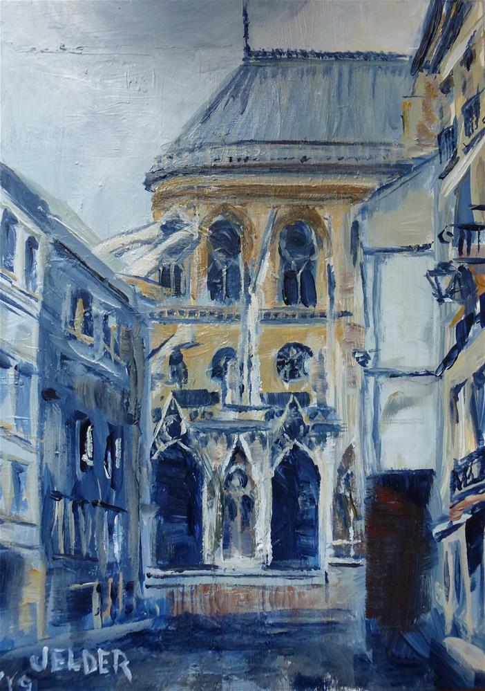 """Paris No. 125"" original fine art by Judith Elder"