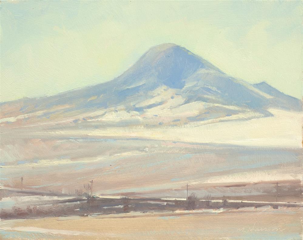 """""""2-26-1 Snow On Haystack"""" original fine art by Marc Hanson"""
