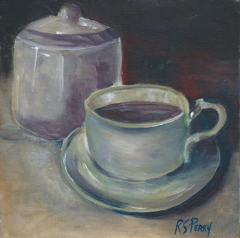 """""""Morning Coffee"""" original fine art by R. S. Perry"""