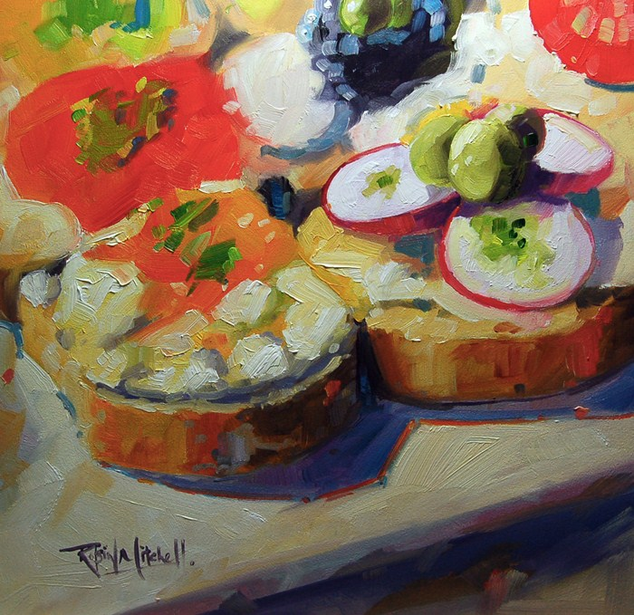 """No 497 Lunch for a Queen"" original fine art by Robin J Mitchell"