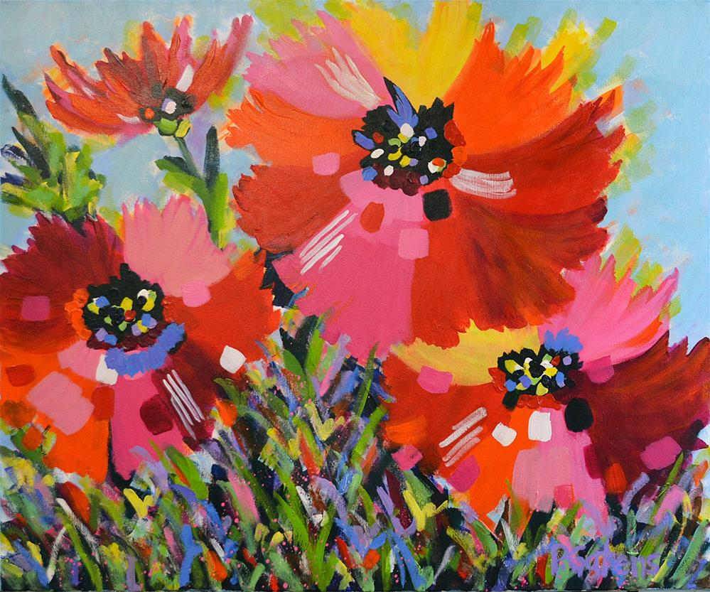 """Beautiful Poppies"" original fine art by Pamela Gatens"