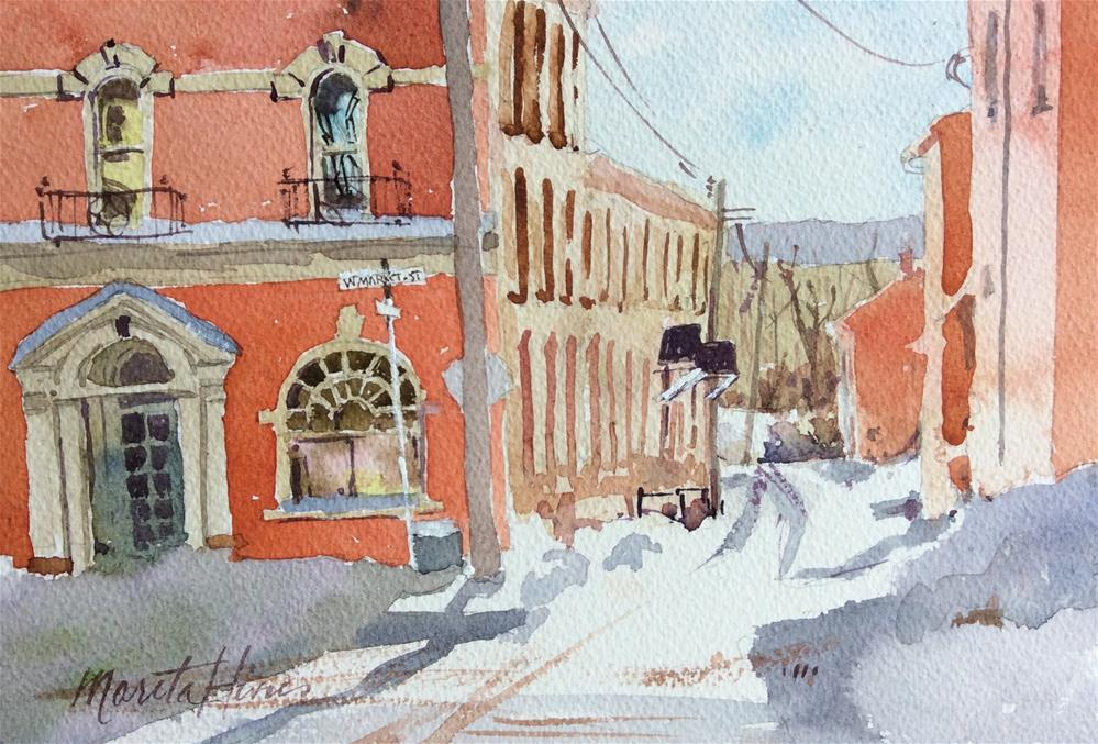 """Mulberry and Market"" original fine art by Marita Hines"