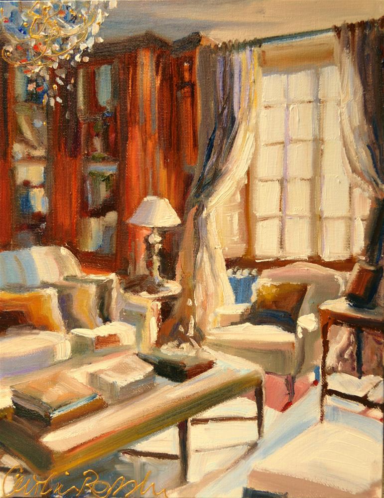 """""""DIE STUDEERKAMER"""" original fine art by Cecilia Rosslee"""