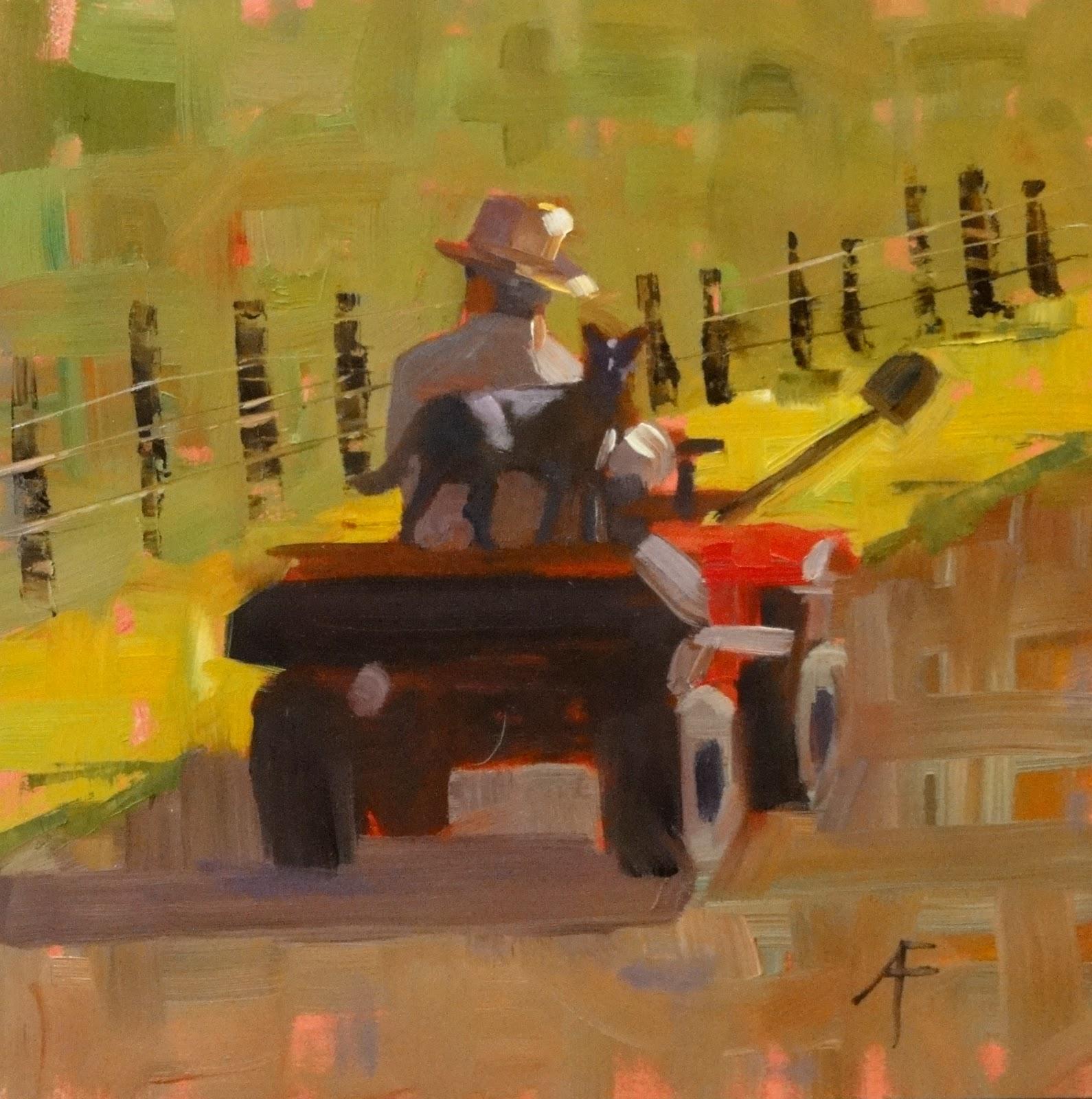 """The Good Dog, 8x8"" original fine art by Ann Feldman"