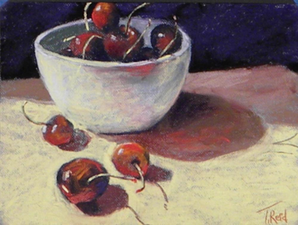 """Life is a bowl of cherries"" original fine art by Toby Reid"