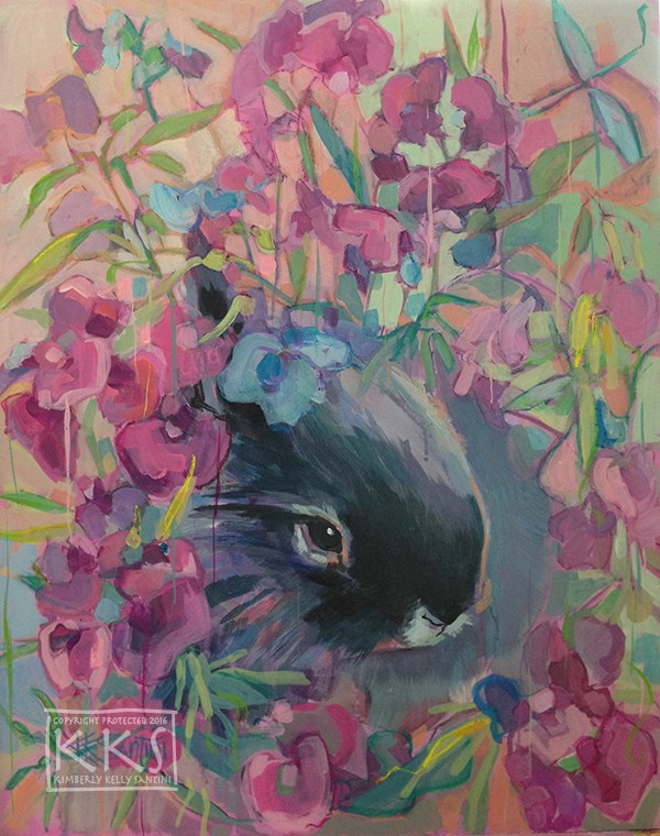 """Sweet Pea"" original fine art by Kimberly Santini"