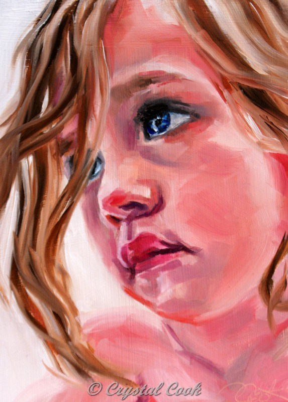"""""""Daydreaming"""" original fine art by Crystal Cook"""