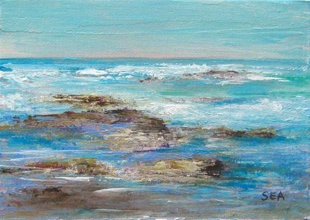 """""""2039 - Violet Sea"""" original fine art by Sea Dean"""
