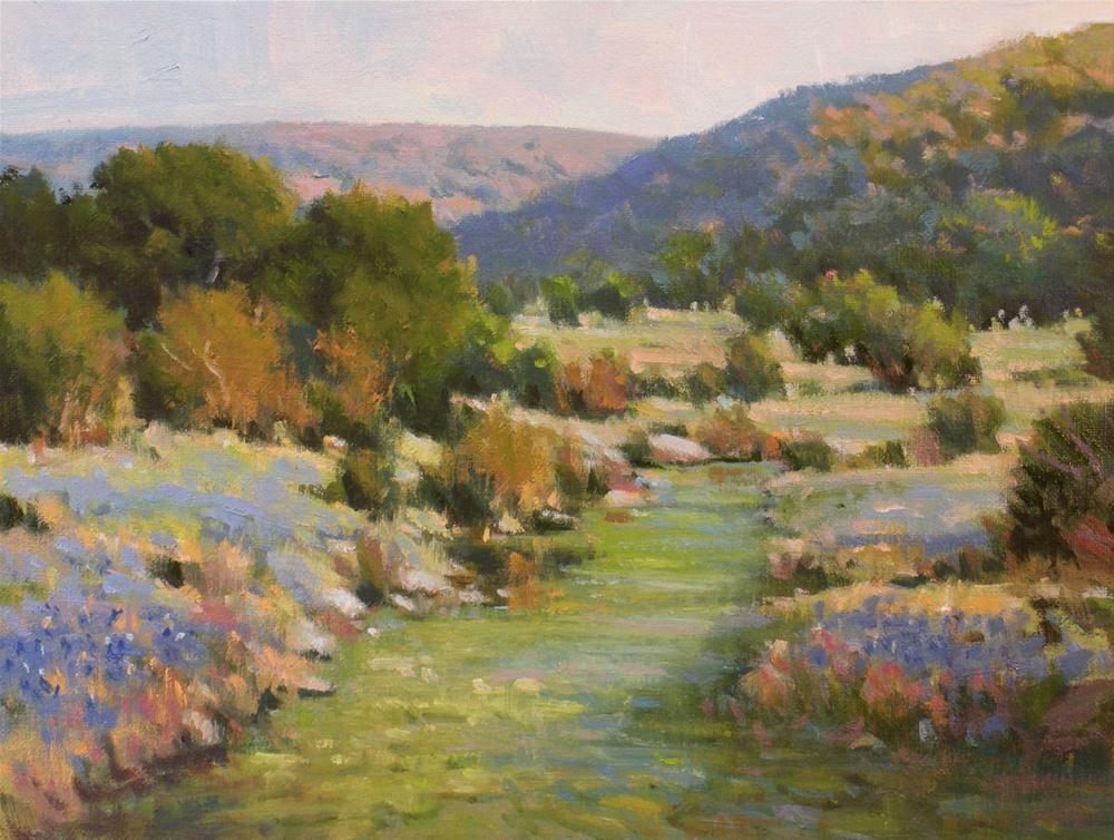 """Morning on the Creek"" original fine art by David Forks"
