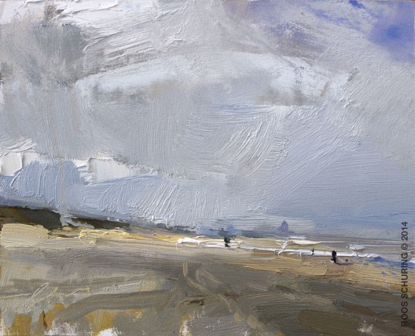 """Seascape Spring 3"" original fine art by Roos Schuring"