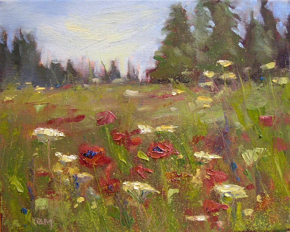 """How You Can Paint With Flowers"" original fine art by Karen Margulis"