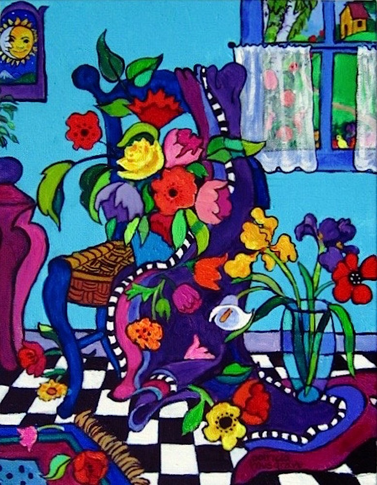"""""""A Posey  Party"""" original fine art by Patricia Musgrave"""