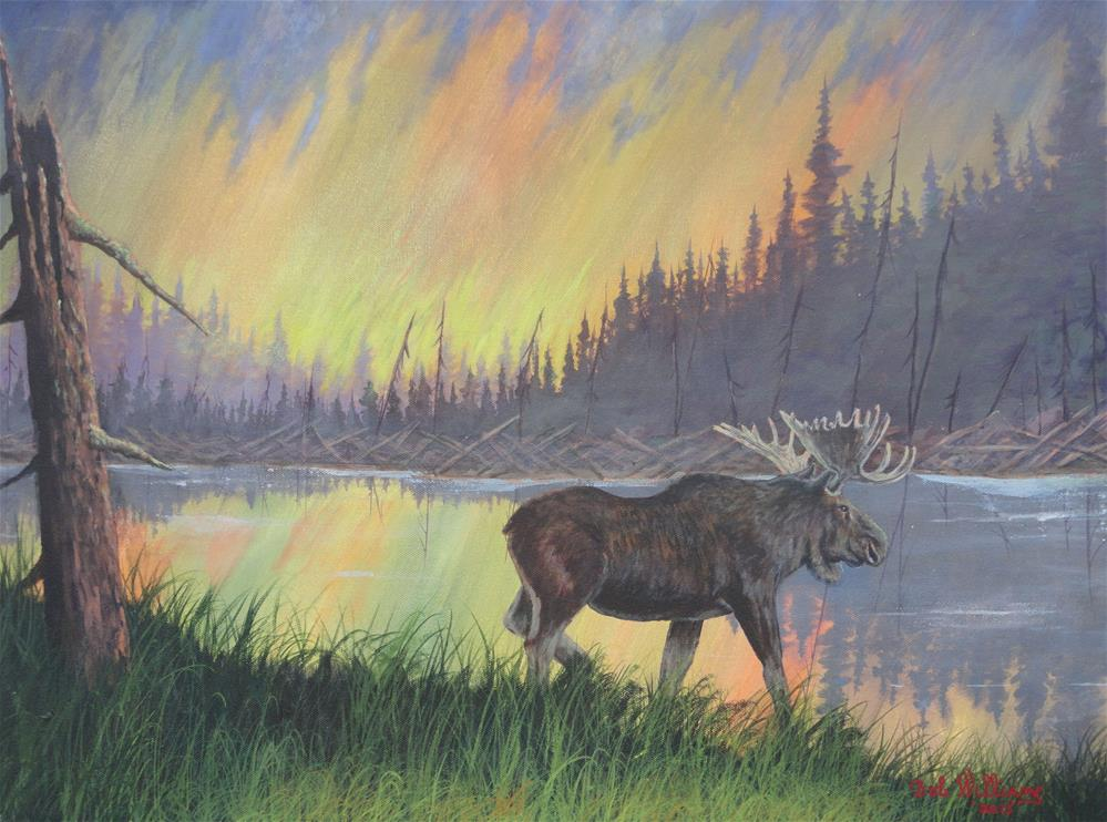 """Escaping The Yellowstone Fires"" original fine art by Bob Williams"