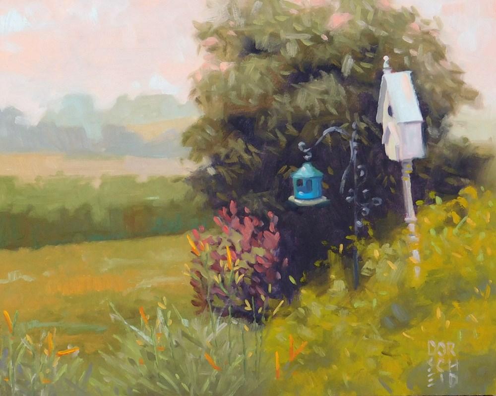 """Finch Haven"" original fine art by Les Dorscheid"