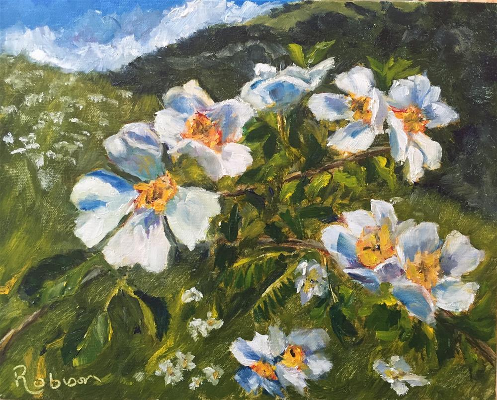 """Italian Dogwoods"" original fine art by Renee Robison"