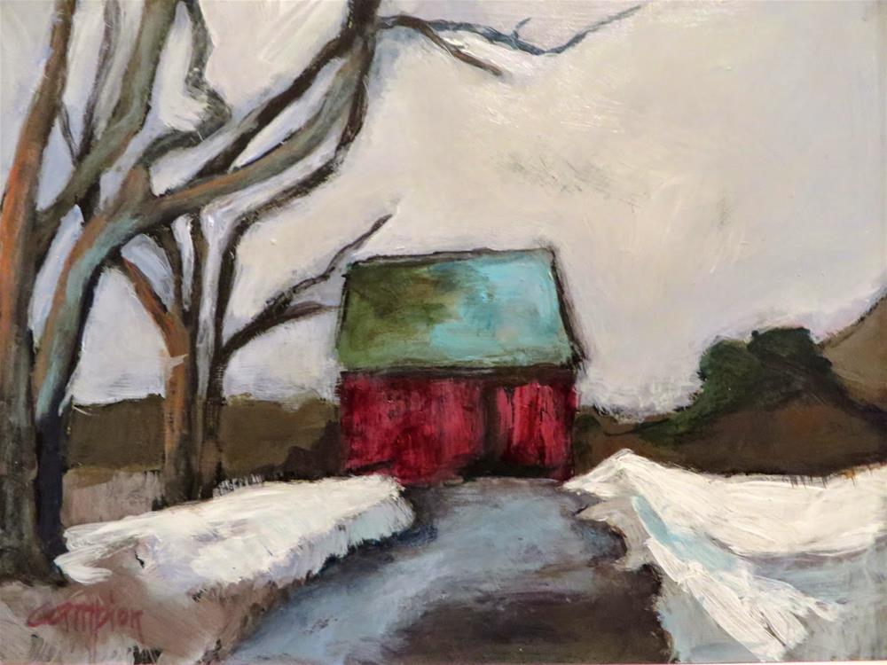 """571 Back Road, Plymouth, Massachusetts"" original fine art by Diane Campion"