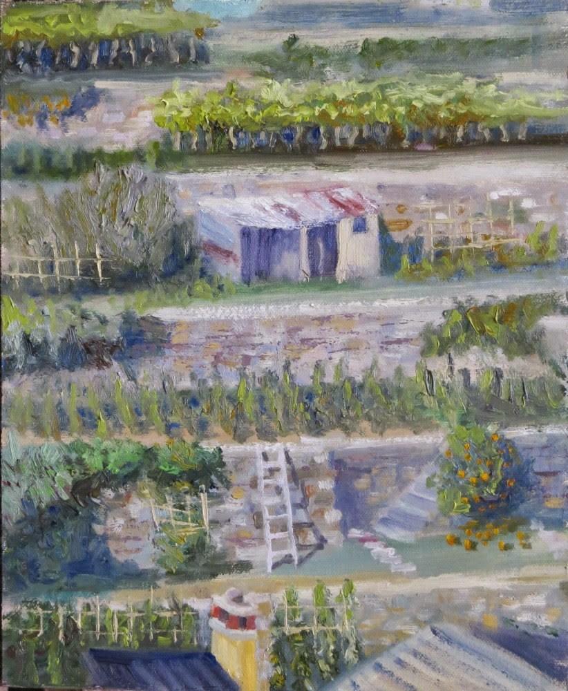"""""""Not in My Backyard"""" original fine art by Richard Kiehn"""