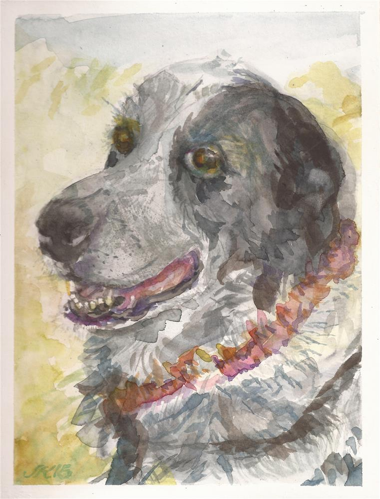 """Girl the Ranch Dog"" original fine art by Jean Krueger"