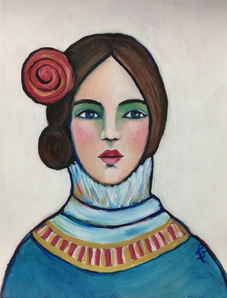 """Sienna II"" original fine art by Roberta Schmidt"