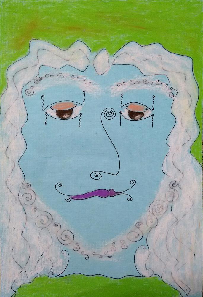 """""""Hugo"""" original fine art by Adéla Svobodová"""
