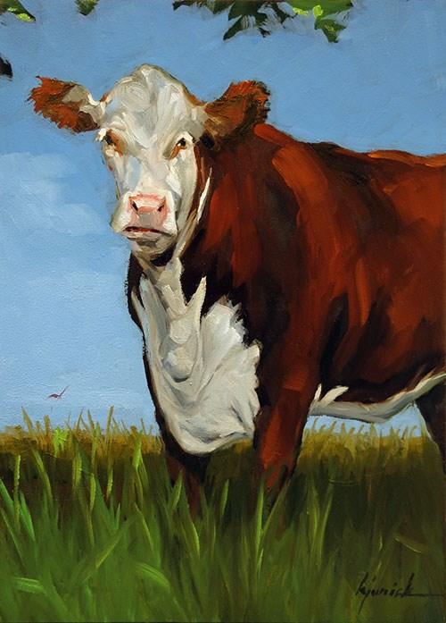 """Big Red"" original fine art by Karin Jurick"