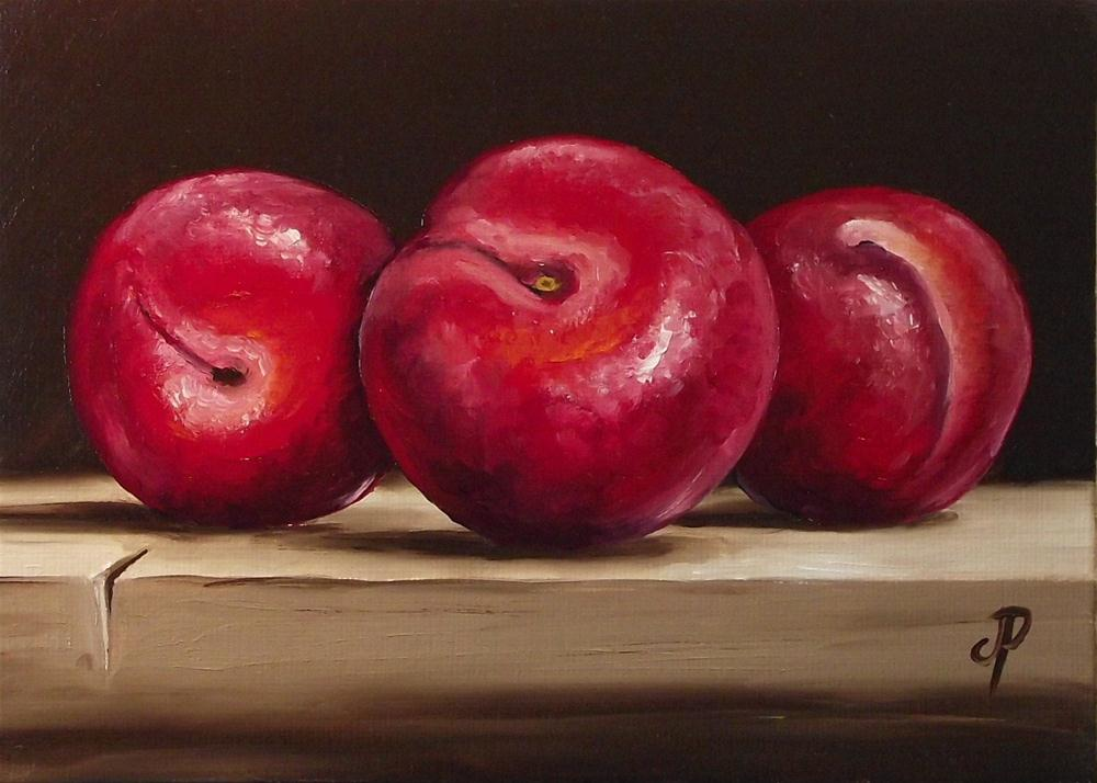 """Plum Trio"" original fine art by Jane Palmer"