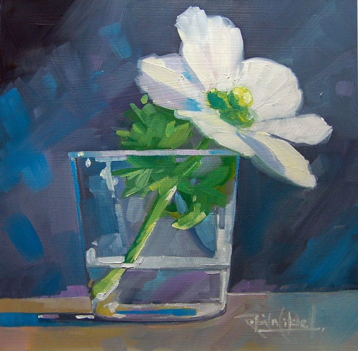 """""""No 504 Perfection in a Glass"""" original fine art by Robin J Mitchell"""
