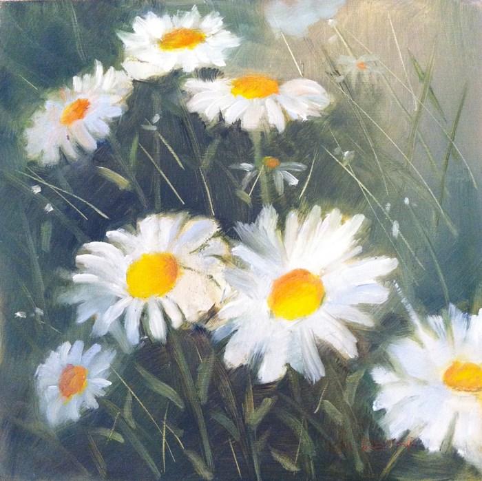 """""""Daisies 2"""" original fine art by Kay Dewar"""