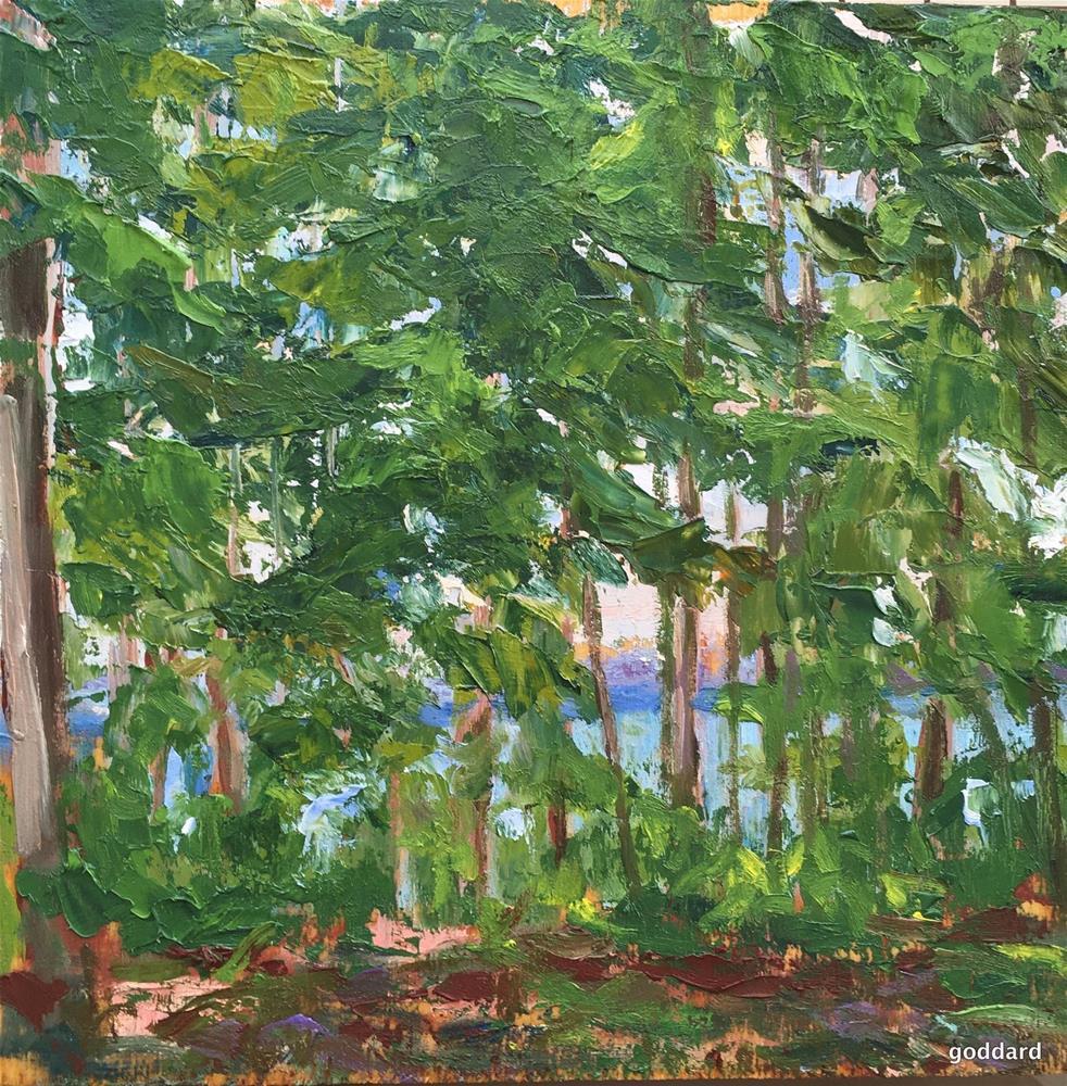 """Lakeside"" original fine art by Shari Goddard Shambaugh"