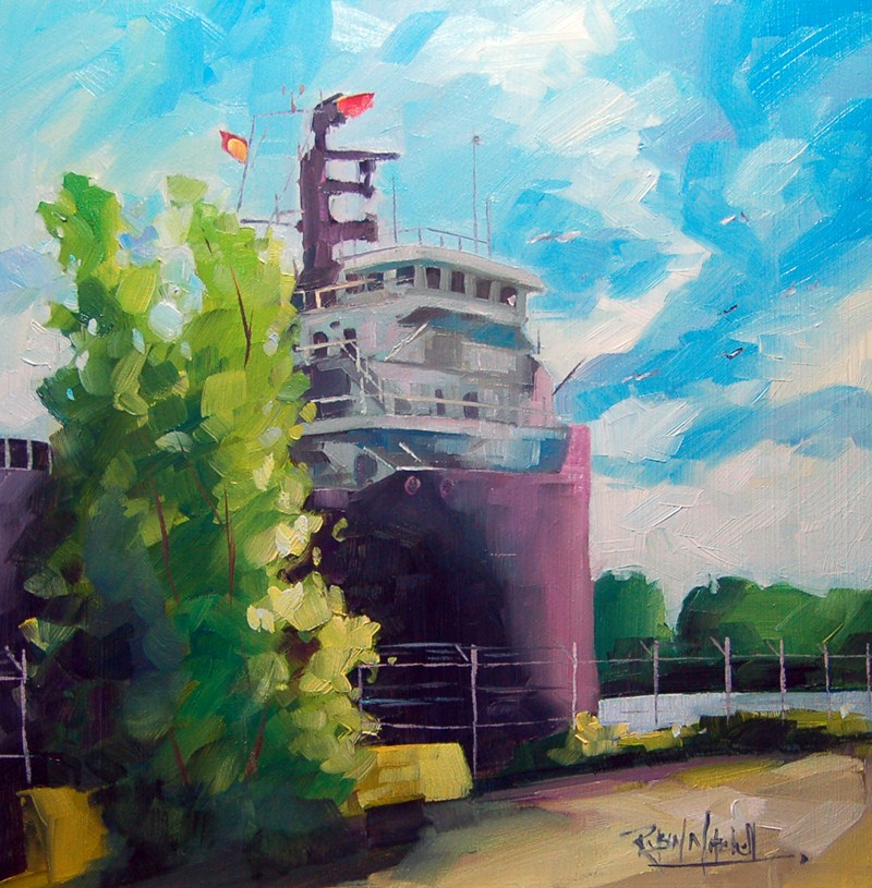 """No 508 Leaving Lake Ontario"" original fine art by Robin J Mitchell"