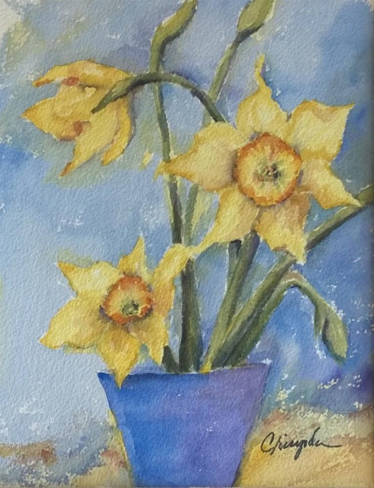 """Happy garden faces"" original fine art by Crisynda Buss"