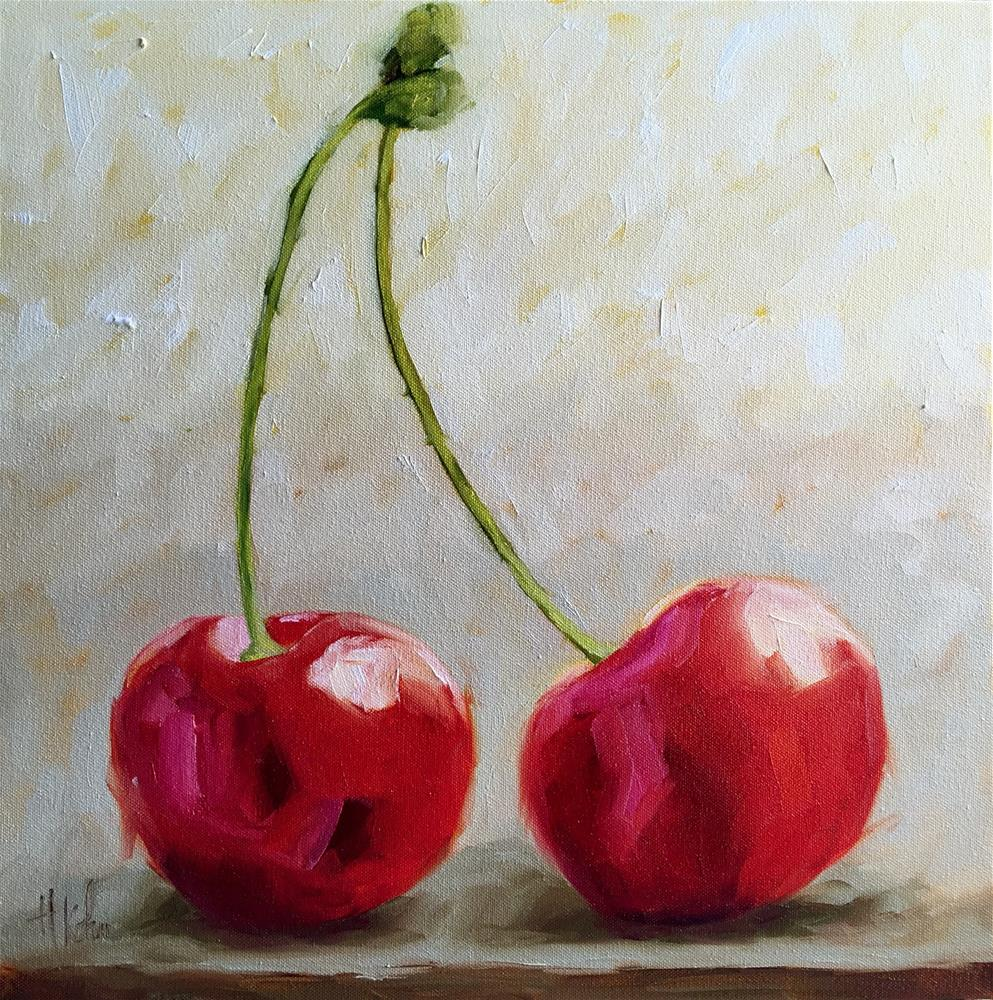 """Cherries"" original fine art by Hallie Kohn"