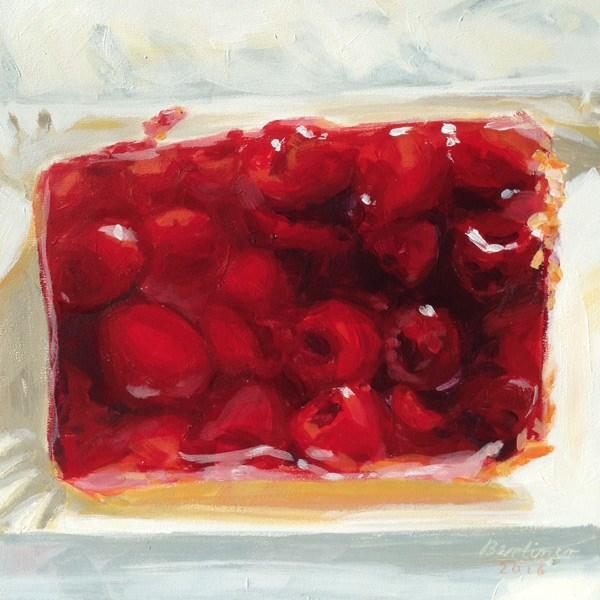 """Raspberry cake"" original fine art by Anja Berliner"