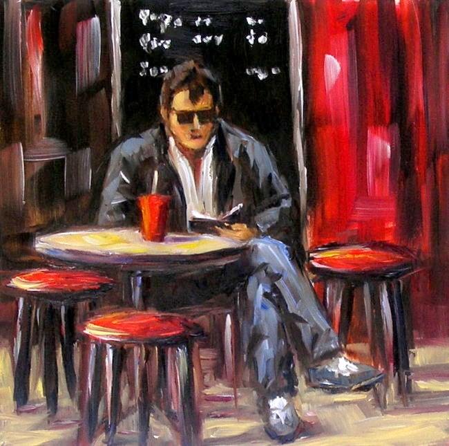 """""""Corner Cafe"""" original fine art by Irina Beskina"""