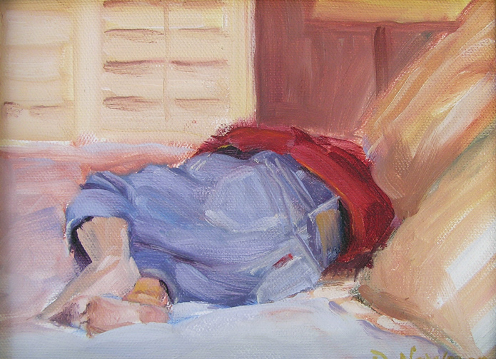 """Nap Time"" original fine art by Deborah Newman"