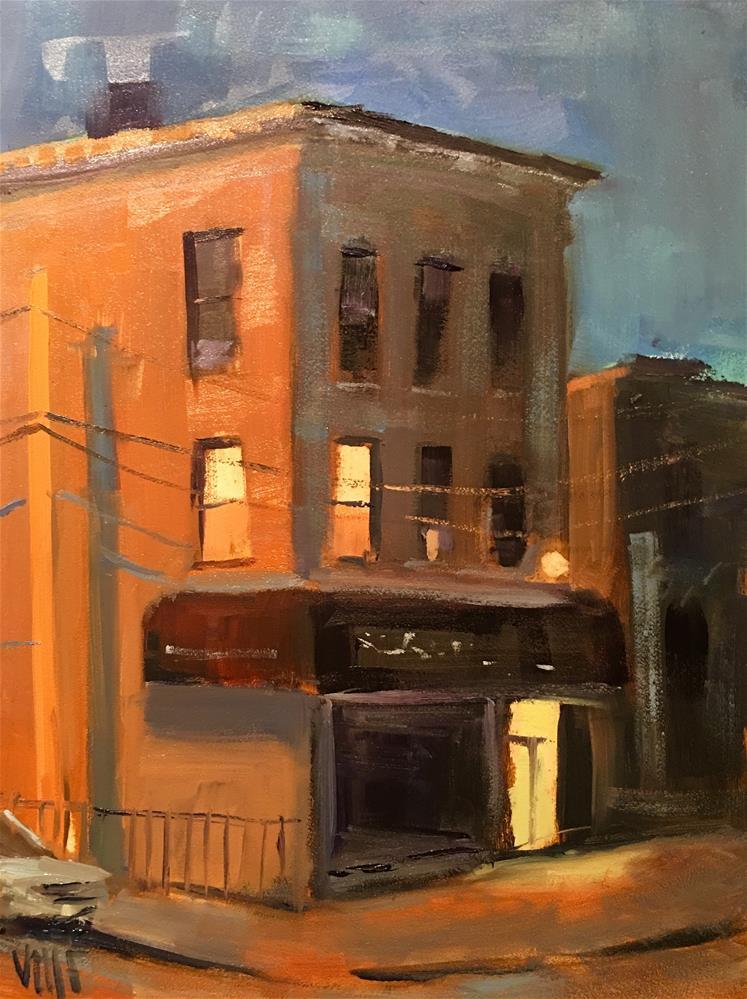 """#386 Up All Night"" original fine art by Patty Voje"