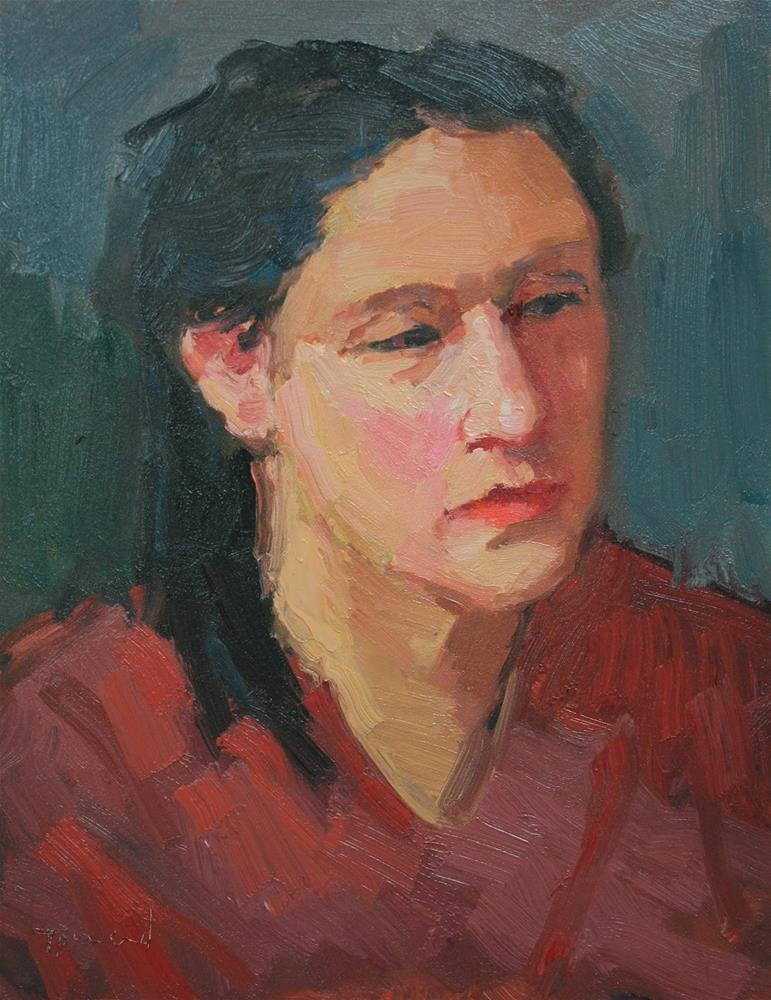 """Portrait Study #16"" original fine art by Kathryn Townsend"