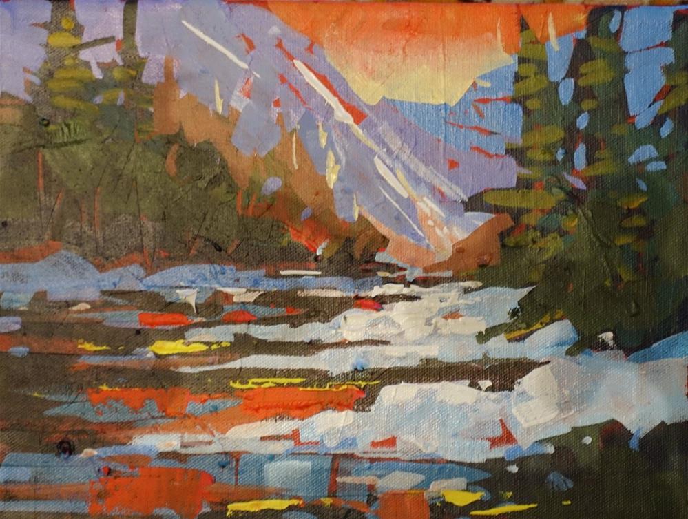 """Orange Evening"" original fine art by Brian Buckrell"