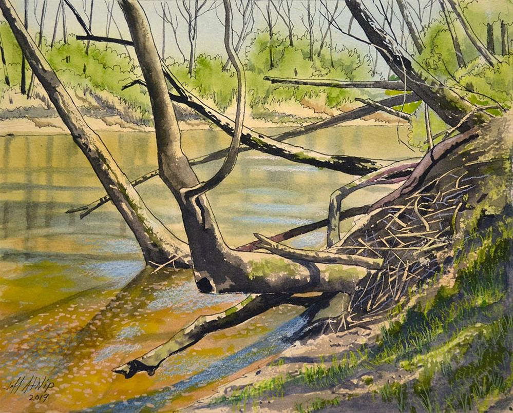 """Wolf River Banks"" original fine art by Jeff Atnip"